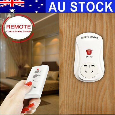 AU Smart Wireless Socket Remote Control Mains Switch 1Outlet Power Point AU Plug