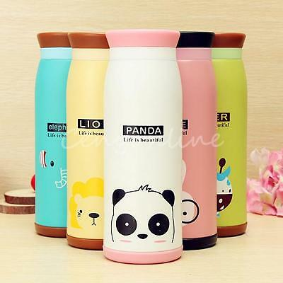 500ML Cute Stainless Steel Vacuum Flask Thermos Travel Mug Coffee Cup 2017 New