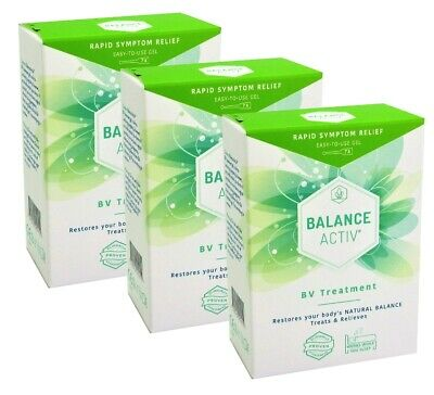 3 x Balance Active Bv Vaginal Gel 7X5ml