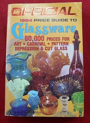 The Official 1984 Price Guide to Glassware Reference Manual Carnival Depression