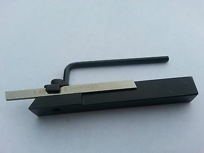 Small 10mm sq.shank parting off tool with HSS cut off blade