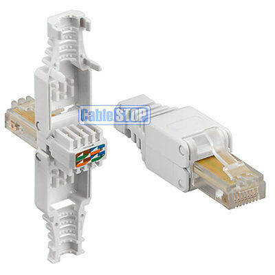 Cat 5e RJ45 Ethernet Cable Connector NEW - NO CRIMPING TOOL NEEDED