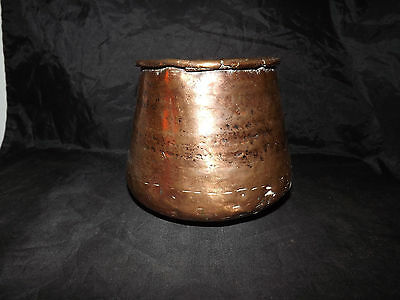 Very Old Hand Hammered Copper Pot