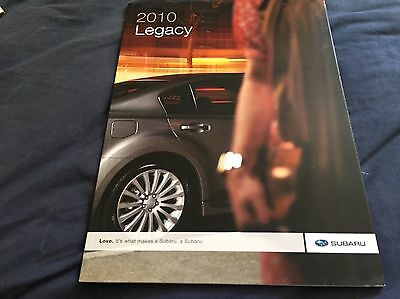 2010 Subaru Legacy USA Market Color Brochure Catalog Prospekt