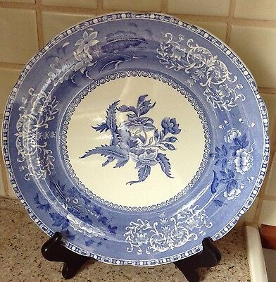 Spode Camilla Decorative Blue And White Plate Made In England Earlier Stamp