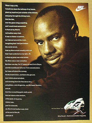 1992 mike powell photo Nike Air Cross Trainer Low shoes vintage print Ad