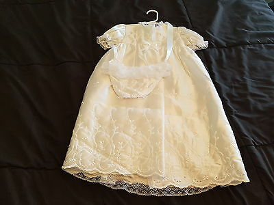Vintage NEW Christening dress Baptism Gown 3 piece