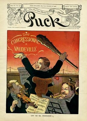 Theodore Roosevelt Conducting Orchestra With Big Stick Congressional Vaudville