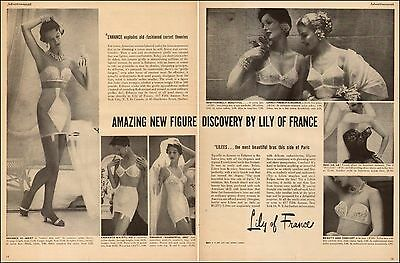 1950s vintage Lingerie Ad LILY of France Bras and Girdles 072017