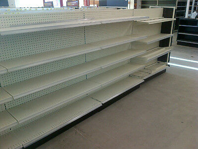 Gondola Shelving LOT Auto Parts STORE Fixtures Used Metal Shelves DEAL Grocery