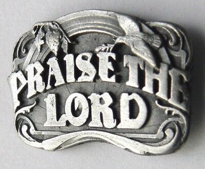 I Love Jesus Praise The Lord Pewter Lapel Pin Badge 3/4 Inch