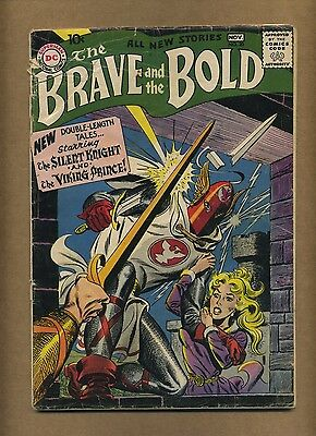 Brave and the Bold 20 (Solid!) Viking Prince by Kubert; DC Comics; 1958 (c#14793