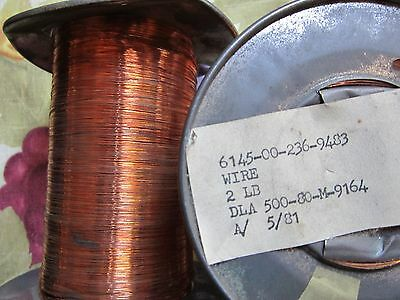 34 awg  Copper Magnet Wire  approx 2 LBS  .  $9
