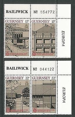 Guernsey 1987 Europa/Modern Architecture--Attractive Topical (348-51) MNH