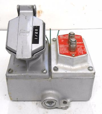 Crouse Hinds Cps152R Receptacle, 20 Amp, 125-250 Vac, 2W, 3P, W/ Ground Fault