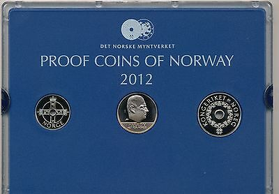 Norway 2012 3 coin Proof Set