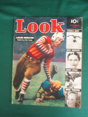 LOOK MAGAZINE October 1937 Full of vintage pictures and articles  51 pages