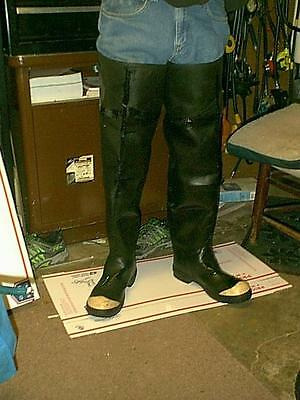 Vintage Bf Goodrich Tall Fire Rubber Hip Boots  Waders Size 11 Steel Toe