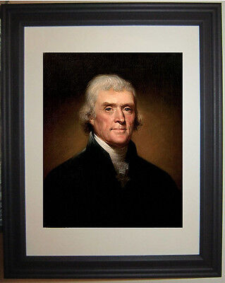 President Thomas Jefferson Founding Fathers Portrait Framed Matted Photo Picture