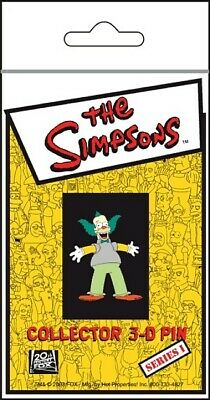 The Simpsons TV Show Krusty Figure 3-D Rubberized Pin, NEW UNUSED