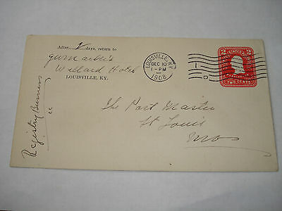 WILLARD HOTEL Louisville KY 1908 COVER  Gurnackre's ? to PM of ST SAINT LOUIS MO