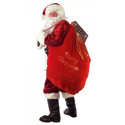 Santa Bag Red Velvet Toy Sack Christmas Costume Accessory Fancy Dress