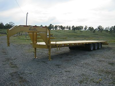 New '17 Gooseneck Or Pintle Equipment Trailer 34' Triple With Duals
