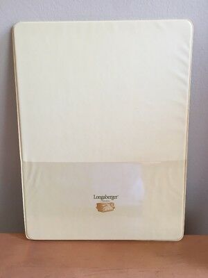 Longaberger Butternut Yellow Lapboard - Writing Board