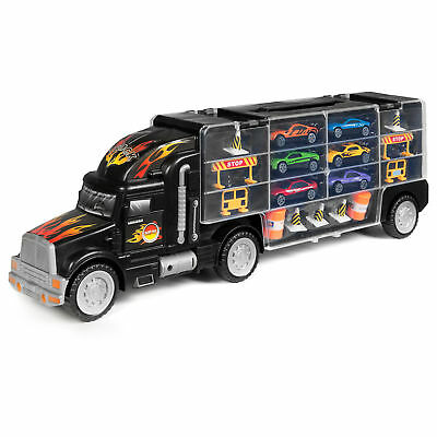 BCP 2-Sided Carrier Truck w/ 18 Cars and 28 Slots - Multicolor