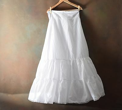 David's Bridal Long Wedding Dress Slip Womens Size 16 White with Tulle Petticoat