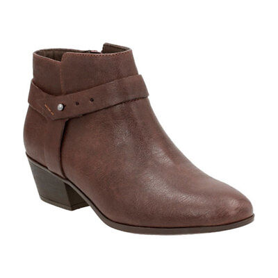 New Clarks Women's Boylan Dawn Boot Brown Leather 9