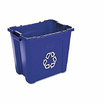 Pack of 6 Rubbermaid Commercial FG571473BLUE Recycling Bin, 14 gallons, Blue