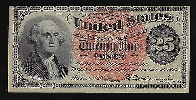 1863 25 Cent Washington Fractional Currency 4th Issue CRISP AU++/ UNC