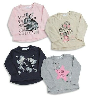 New Baby Girls Cute Long Sleeve Top 0-3-6-9-12-18-24 Months Next Day Post