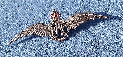 Original Ww2 Raf Sterling Silver Marked Pilot Aircrew Wings Badge