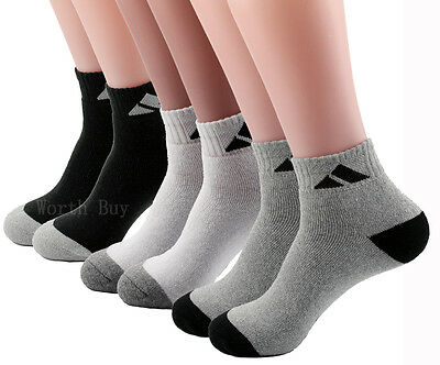 3-12 Pairs Ankle Quarter Crew Mens Sport Socks Cotton Athletic Casual Size 9-13