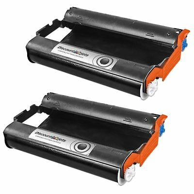 2 Pack PC301 Cartridge with PC302RF Roll for Brother Intellifax 870MC Printer