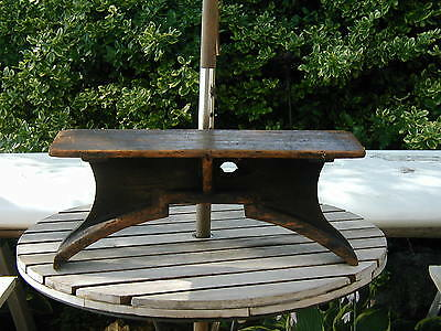 GREAT Antique Wood Foundry Pattern Mold Industrial Machine Steampunk Shelf/Stand
