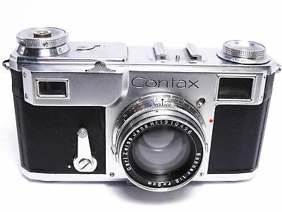 ZEISS CONTAX CAMERA II  w 5cm 2 SONNAR  1936  for display                3168