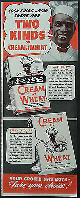 Original Two Kinds Of Cream Of Wheat Ad 1939  With New 5 Minute Creme Of Wheat