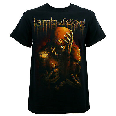 Authentic LAMB OF GOD Band Triad Skeleton Faces T-Shirt S-2XL NEW