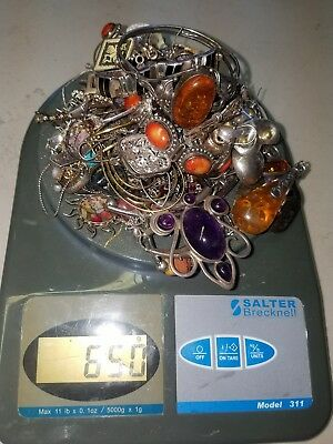 STERLING SILVER 925 Jewelry Scrap or not Lot 1.3 LBS (650 Grams)
