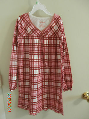 Girls Cat & Jack Red Plaid Nightgown Size 7 8 Never Worn Nwot
