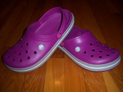 Womens Crocs Crocband Relaxed Purple Sandals Shoes Clogs Slip On Size 10