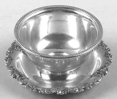 Wallace GRANDE BAROQUE STERLING Gravy Bowl & Underplate 1986804