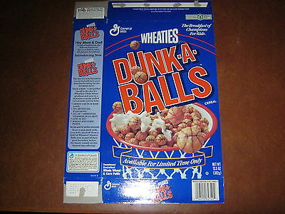 Wheaties   DUNK-A- BALL Cereal Box  1993