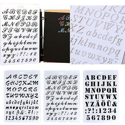 Letter Alphabet Number Layering Stencils Painting Scrapbooking Paper Cards B3
