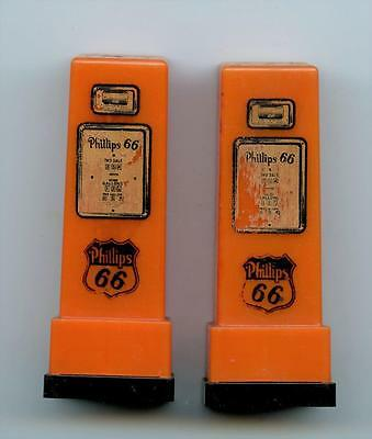 vintage PHILLIPS 66 GAS STATION Peoria, IL advertising Pump Shakers S&P
