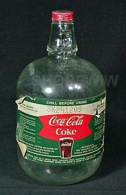 Vintage Coca Cola Fountain Syrup 1 Gallon Jug Bottle Fishtail Label EMPTY