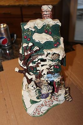 Blue Sky Clayworks THE CHERRY TREE INN Four Seasons Collection 2001 With Base